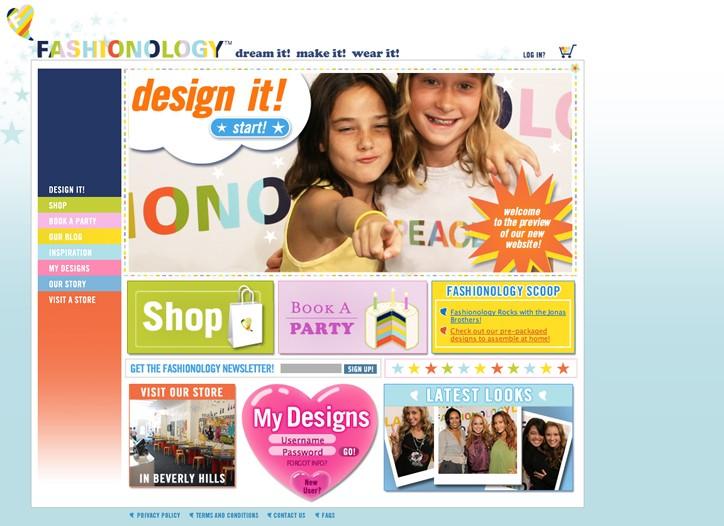 The Fashionology Web store.