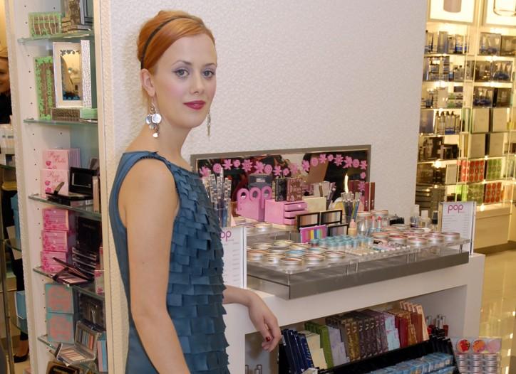 Pop Beauty's Sara Strand in CVS' Beauty 360 store.