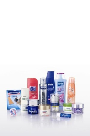 Items marketed by Beiersdorf.