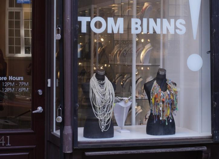 The new Tom Binns store.