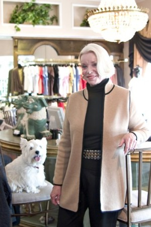 Bonnie White in her store.