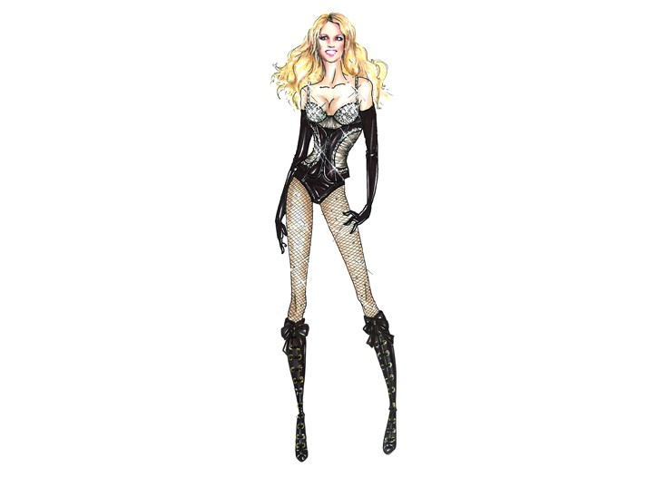 Dsquared Circus costumes designs for Britney Spears.