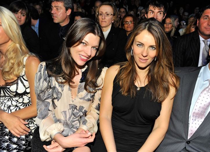Milla Jovovich and Elizabeth Hurley