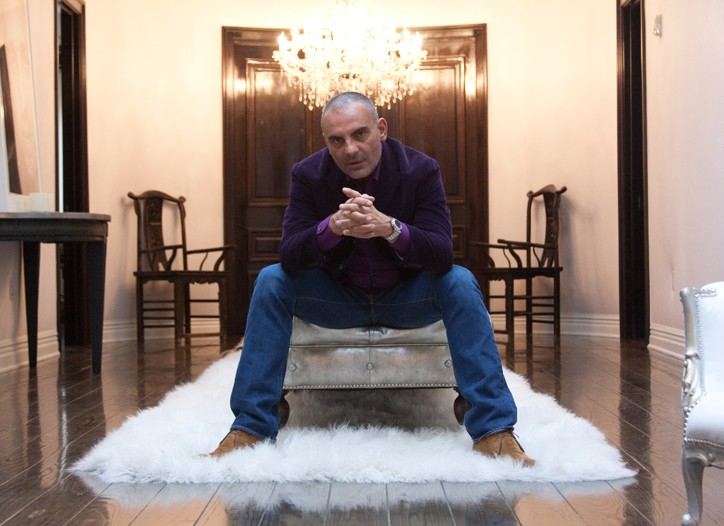 Christian Audigier in his new Los Angeles office.