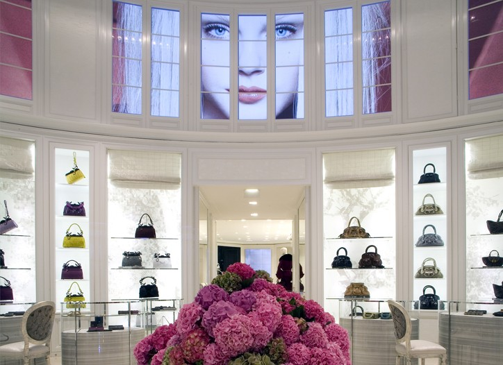 Inside the Dior flagship on Avenue Montaigne in Paris.