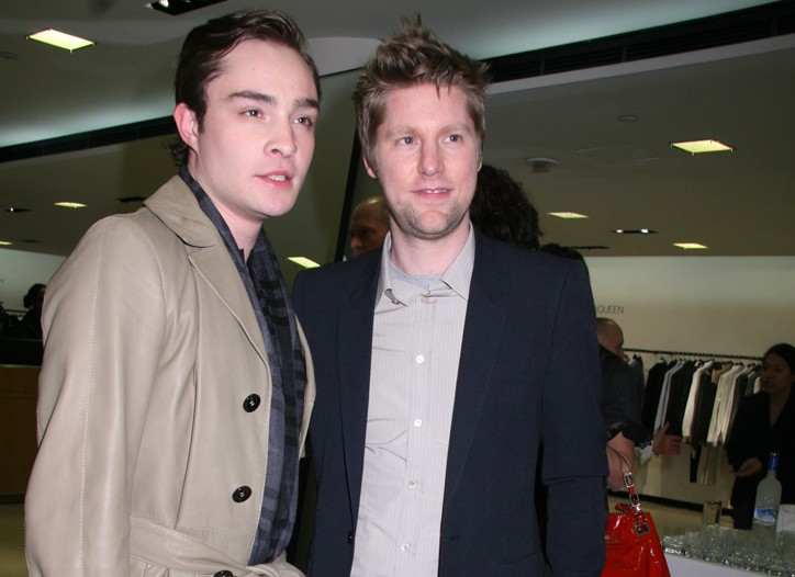 Ed Westwick and Christopher Bailey