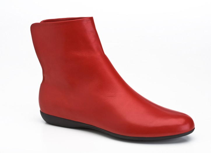 Sculpted red shoes will be labeled Salvatore Ferragamo for Yohji Yamamoto