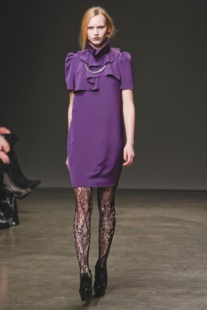 Doo-Ri Chung's tights on the runway.