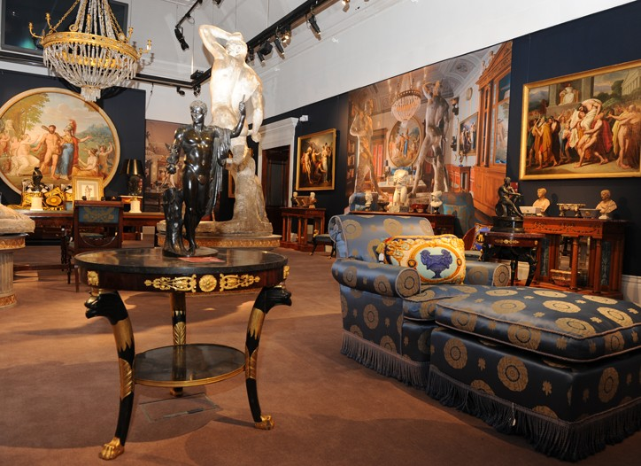 Sotheby's re-creation of a room from the late Gianni Versace's Lake Como home.