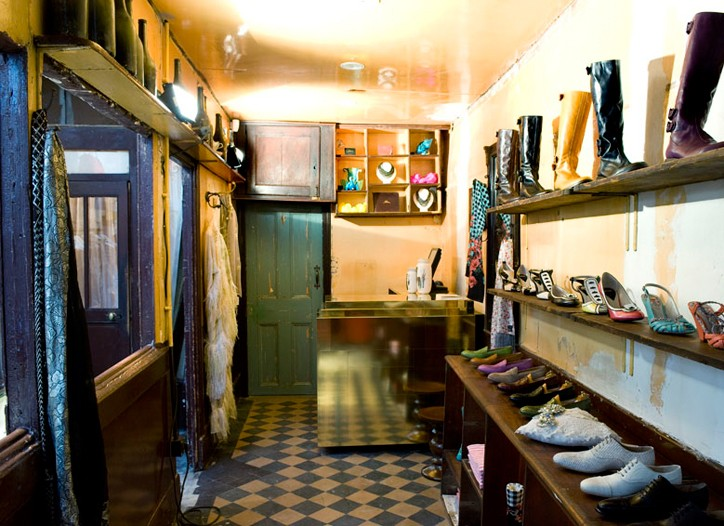 Inside the Paul Smith boutique in Paris.
