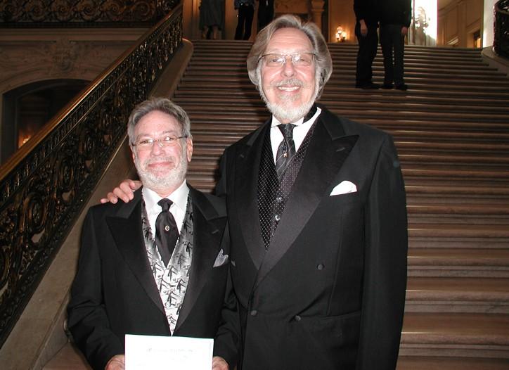 Colton and Bernard at their original wedding at San Francisco City Hall in 2004.