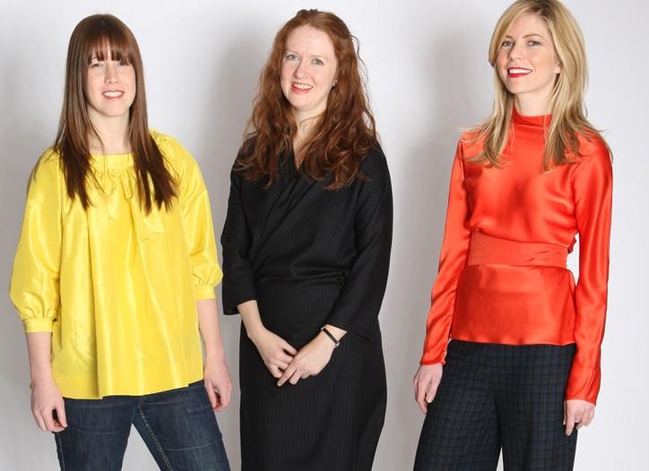 Abby Low, Katie Hatch and Mara Papa, each wearing Harvey Faircloth.