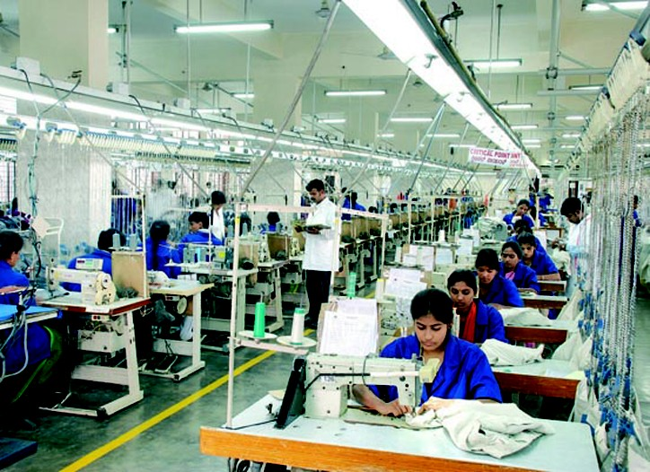 Workers at a manufacturing unit of Gokaldas Exports Ltd. in Bangalore.