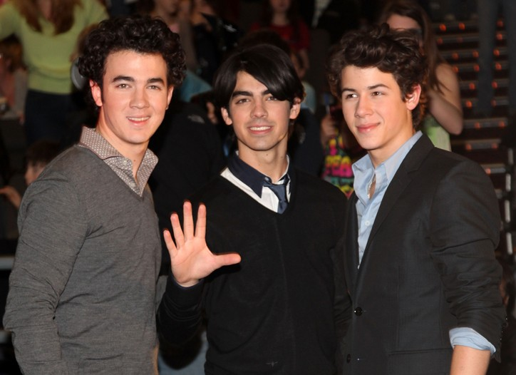 Kevin, Joe and Nick Jonas of the Jonas Brothers on Feb. 28 at a movie premiere in West Nyack, N.Y.
