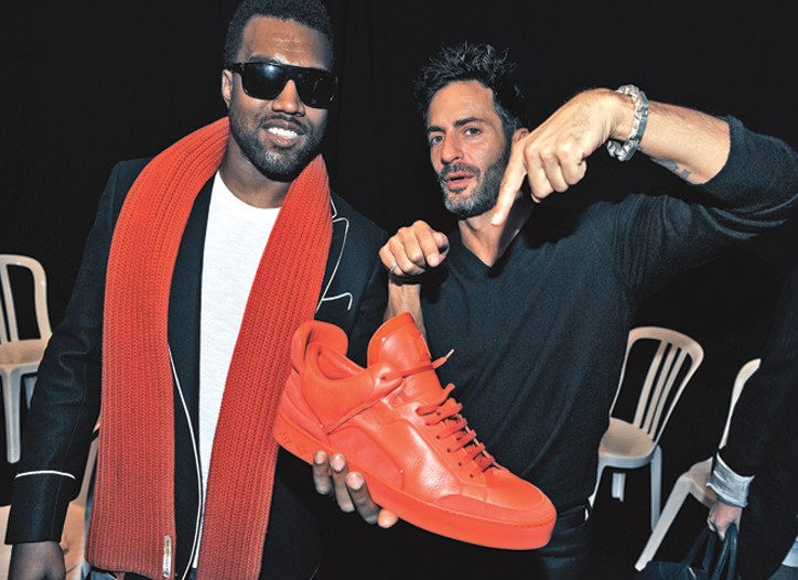 Kanye West and Marc Jacobs.