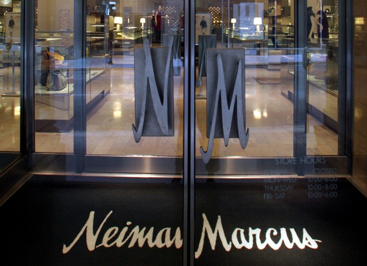 The entrance to the Neiman Marcus flagship.