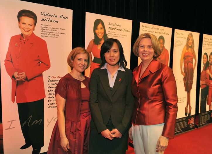Dr. Nieca Goldberg; Dr. Yu Chen, associate professor, NYU School of Medicine, and Jane Chestnutt.