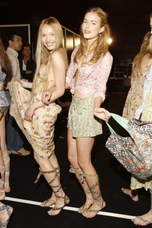 Cacharel's vintage print collection, which launched for spring, sold well at the French brand's Train debut.