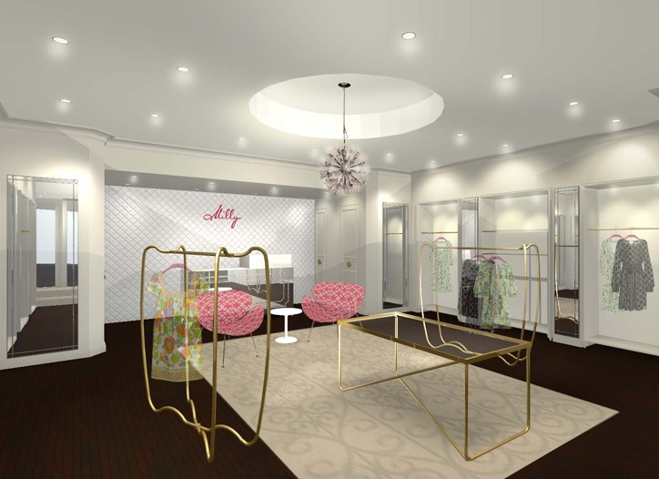 A rendering of the first Milly store, opening today in Tokyo.