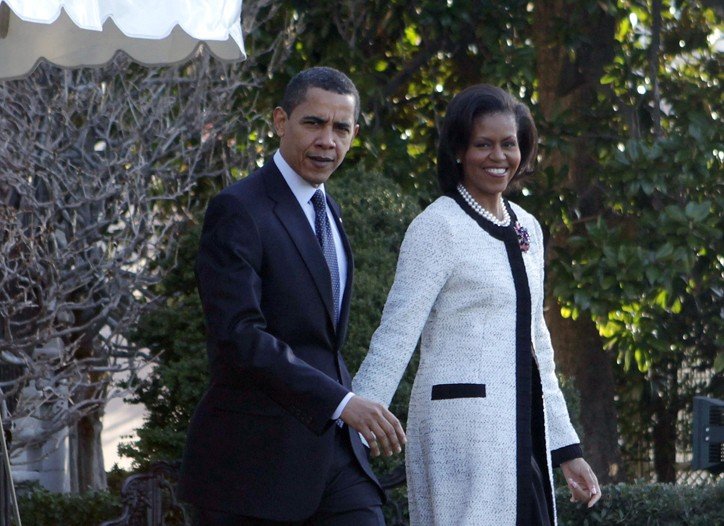 Michelle Obama wearing Thakoon.