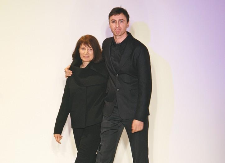 Kristelle von Kiedrowski and Raf Simons