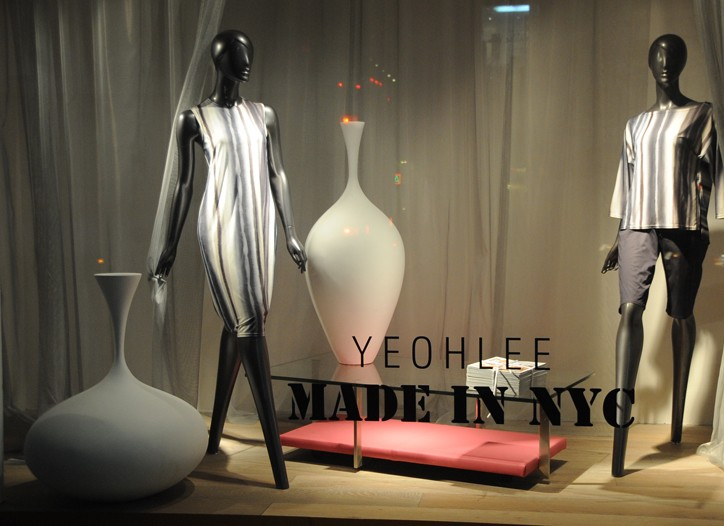 Yeohlee's store windows at Lord & Taylor.