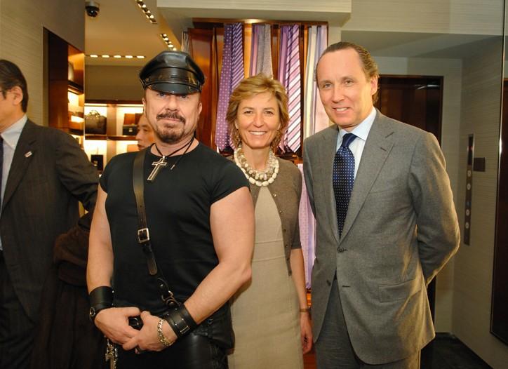 Peter Marino with Anna and Gildo Zegna.