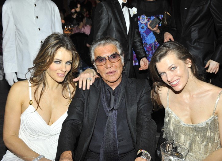 Elizabeth Hurley, Roberto Cavalli and Milla Jovovich.