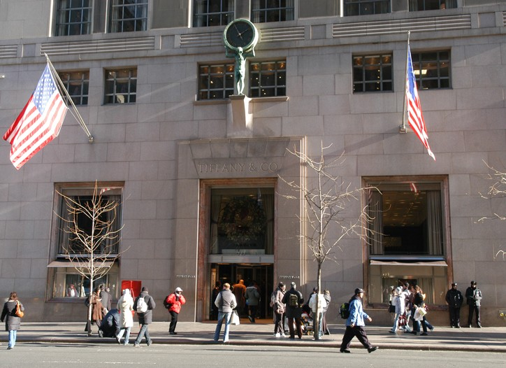 For the year, Tiffany's profit declined 32 percent.