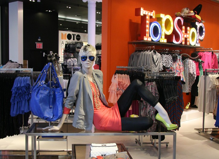 Topshop in SoHo shows off an Eighties-inspired ensemble