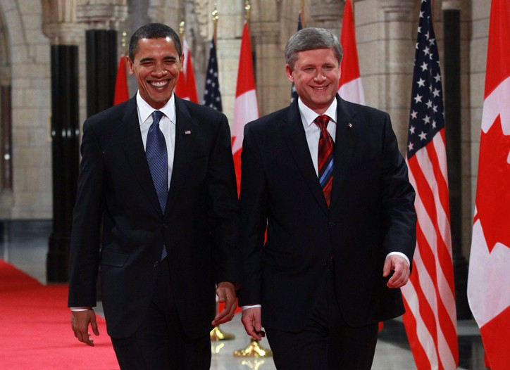 President Obama met with Canadian Prime Minister Stephen Harper in February. Trade veterans expect the President to move to strengthen labor and environmental provisions of NAFTA.