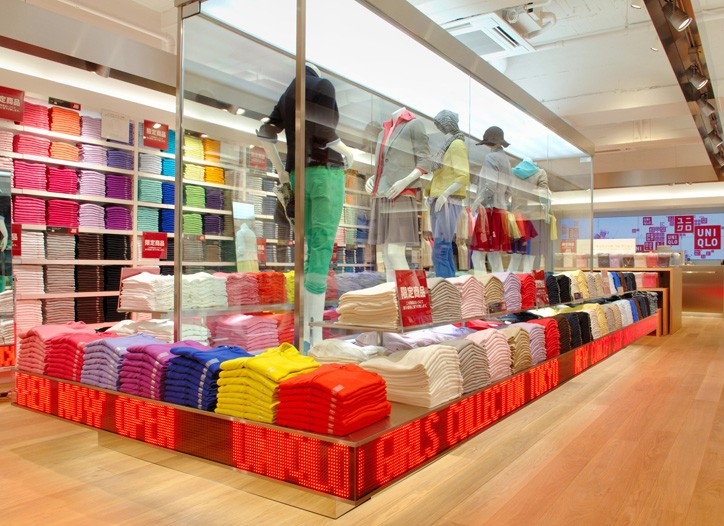 Uniqlo's new retail concept for young women at Tokyo's Marui.