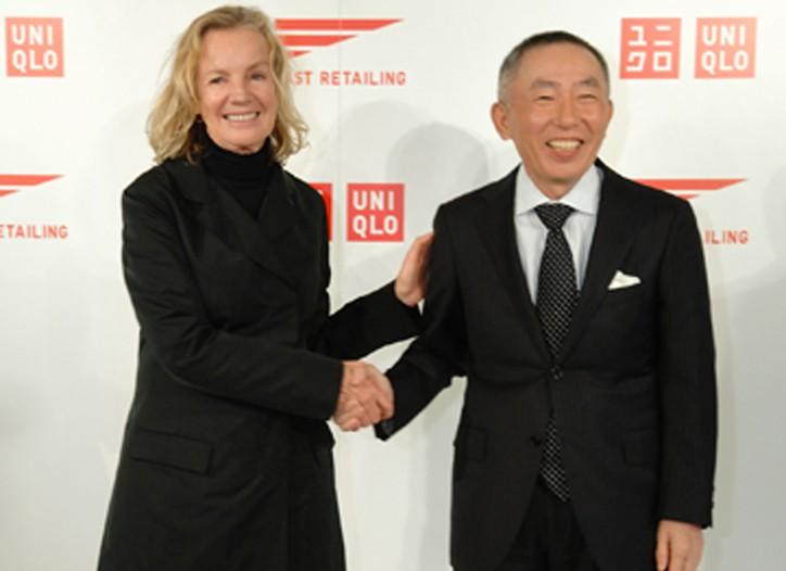 Jil Sander and Fast Retailing chairman Tadashi Yanai