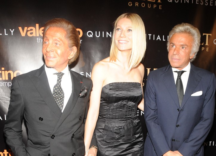 Valentino, Gwyneth Paltrow and Giancarlo Giammetti