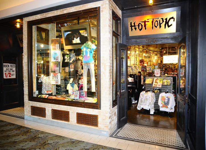 Hot Topic in the Westfield Topanga shopping center in Woodland Hills, Calif.