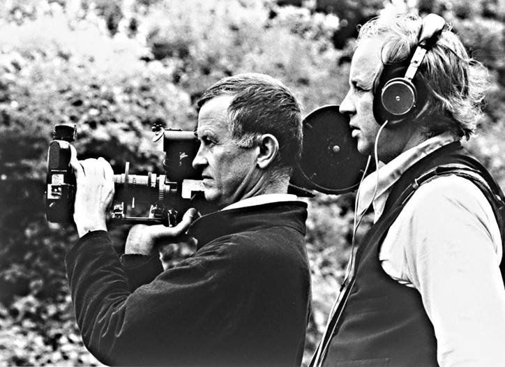 Filmmaking brothers Albert and David Maysles.