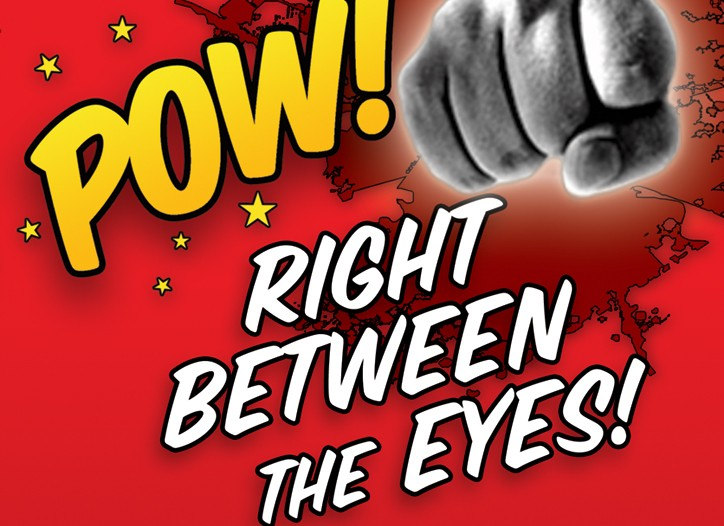 """Pow! Right Between the Eyes"" packs some surprises of its own, including two comedic forwards, one written by John Cleese, the other by Craig Ferguson."
