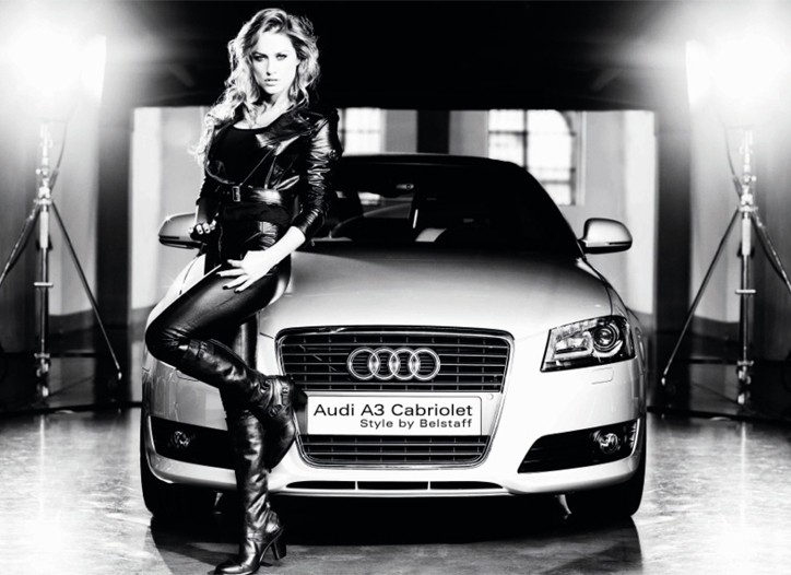Singer Lola Ponce in Belstaff with the Audi A3 Cabriolet.