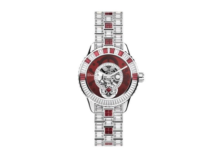 The Dior Christal tourbillon set with Siam rubies and diamonds