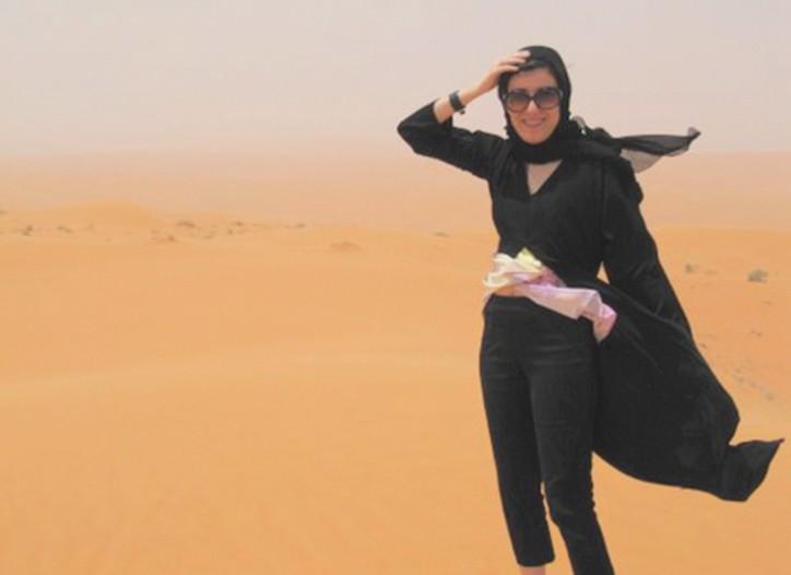 Behnaz Sarafpour in Saudi Arabia.