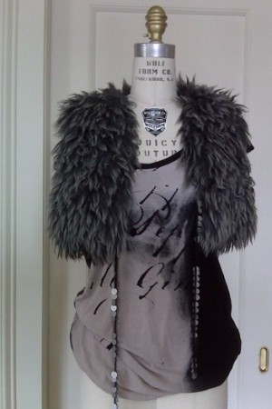 A knit top and shawl from Bird by Juicy Couture.