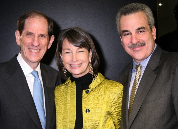 Michael Gould, Brooke Garber Neidich, chairwoman of the NYU Child Study Center and Dr. Harold Koplewicz.