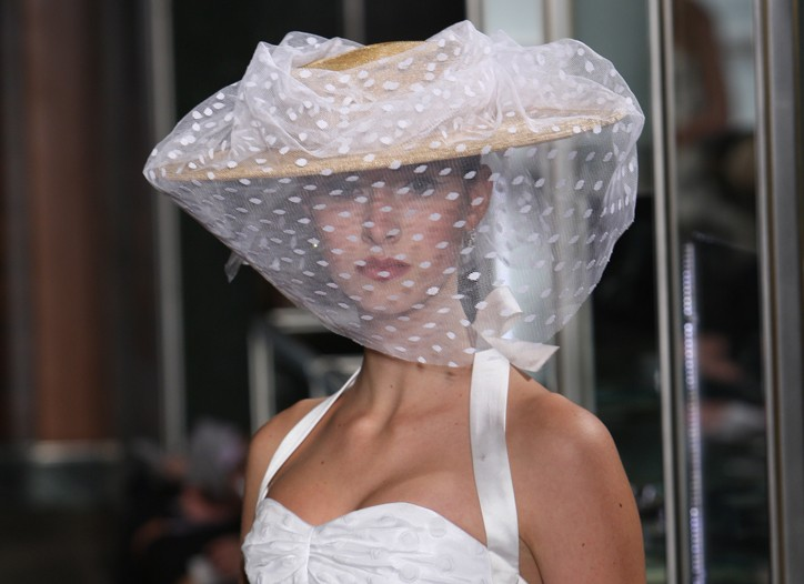 Georges Seurat inspired this Carolina Herrera gown.