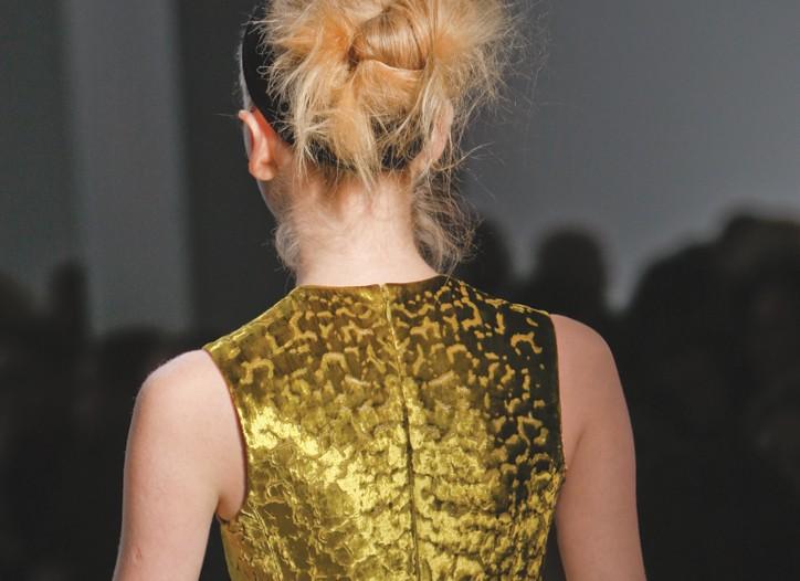 Calvin Klein's treated velvet.