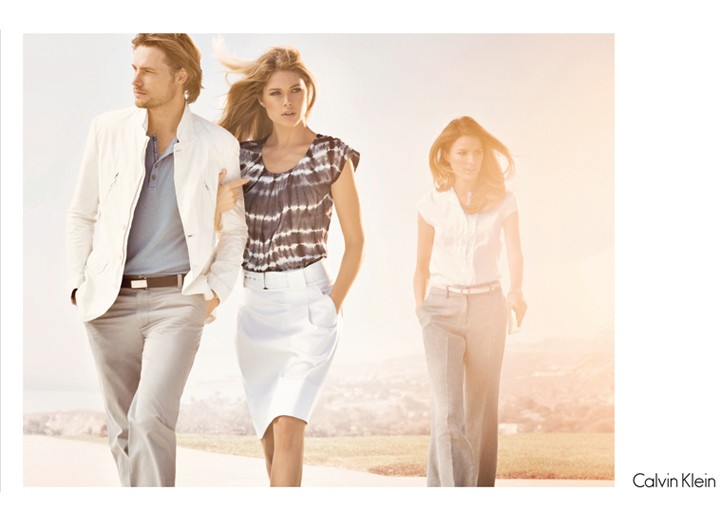 A spring ad for the relaunched Calvin Klein white label.
