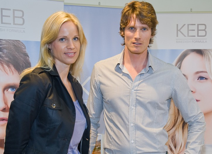 Keb's ex-model founders Louise Dufwa and Daniel Sand.