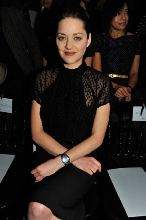 Marion Cotillard at this years January Dior Couture show
