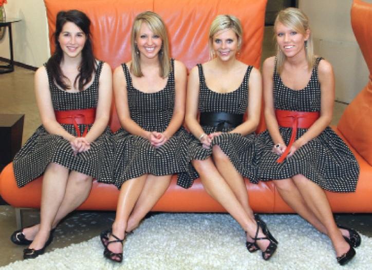 "FIG's ""FIGlet"" interns dressed in Corey Lynn Calter dresses."