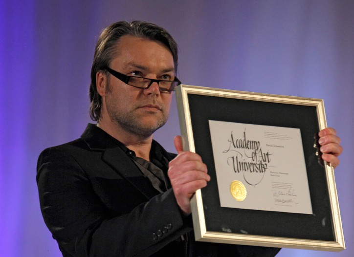 David Downton receives his degree.