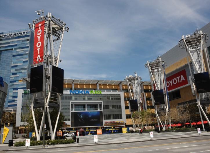 The L.A. Live entertainment complex.